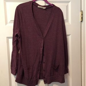 🔴FREE with $10 purchase 🔴 - purple cardigan